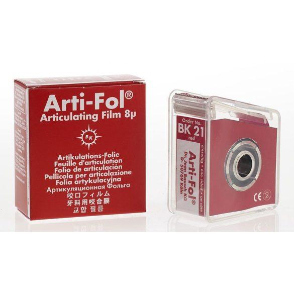 BK 21 art.fólia+tartó 8mic 1o piros,22mmx20m szalag,ARTI-FOL