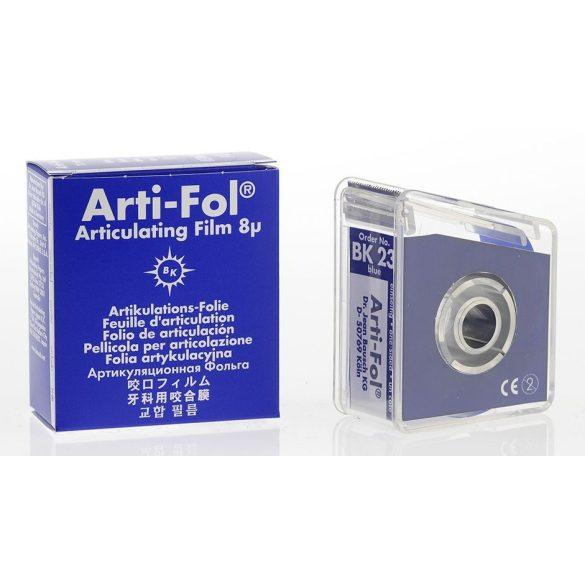 BK 23 art.fólia+tartó 8mic 1o. kék,22mmx20m szalag,ARTI-FOL