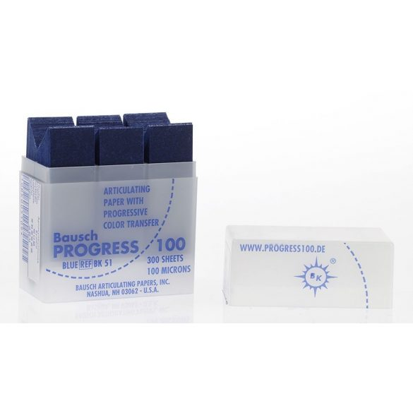 BK 51 art.papír 100mic+adagoló kék,300 csík,PROGRESS 100