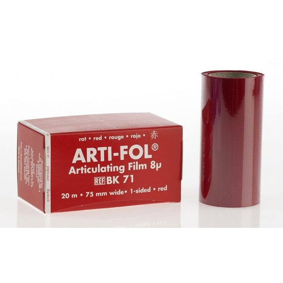 BK 71 art.fólia 8mic 1o.piros 75mmx20m szalag,Arti-Fol,Lab.