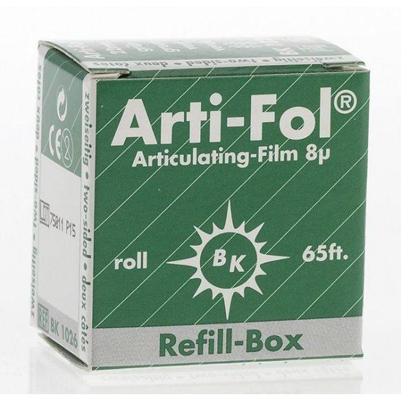 BK  1026 art.fólia ut.8mic 2o. zöld,22mmx20m szalag,ARTI-FOL