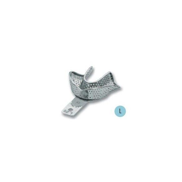 ASA 2809-L20 lenyomatkanál L als fém,perf.retenciós,részben fogas