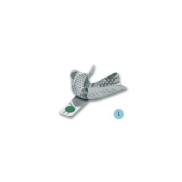 ASA 2801-L5 lenyomatkanál L alsó fém,perf.,Codicolor,zöld