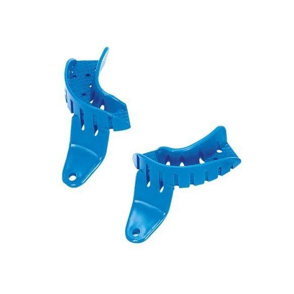 ASA 2853-L1S lenyomatkanál kék félkanál,bal,műanyag