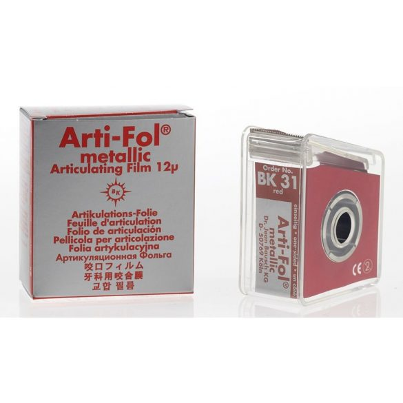 BK 31 art.fémfól+tartó 12mic 1o. piros 22mmx20m metallic,Arti-Fol