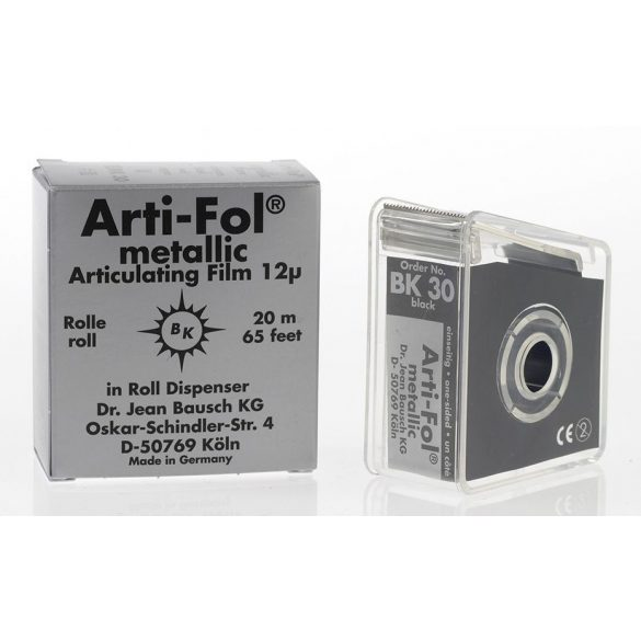 BK 30 art.fémfól+tartó 12mic 1o. fekete 22mmx20m metallic,Arti-Fol