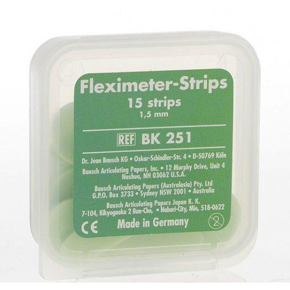 BK 251 Fleximeter-Strips 1,5mm 15db,zöld,hézagmérő