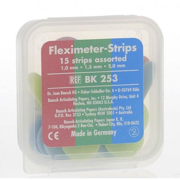 BK 253 Fleximeter-Strips szorti. 3x5db,hézagmérő,pink 1mm,zöld 1,5mm,kék 2mm