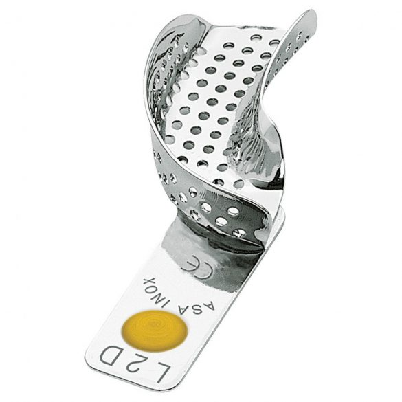 ASA 2801-L2D félkanál jobb alsó fém,perf.,Codicolor,sárga