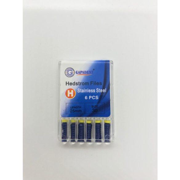 H-File Gapadent 25mm,30,kék 6db,kézi