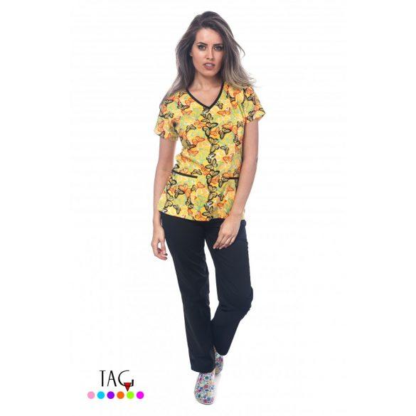 Munkaruha TAG lepke 2/28     XS sárga,Yellow Tropical Butterflies